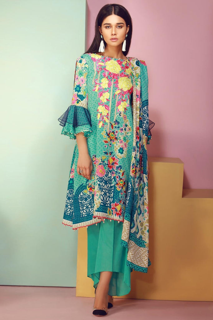 Warda Designer Collection - 3PC Lawn Kashmiri Embroidery 3818050