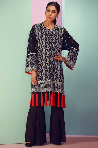 Warda Designer Collection - Single Shirt Lawn Chikan Kari 1308111