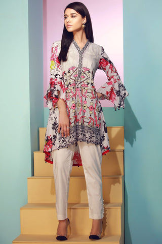Warda Designer Collection - Single Shirt Lawn Kashmiri Embroidery 1307311