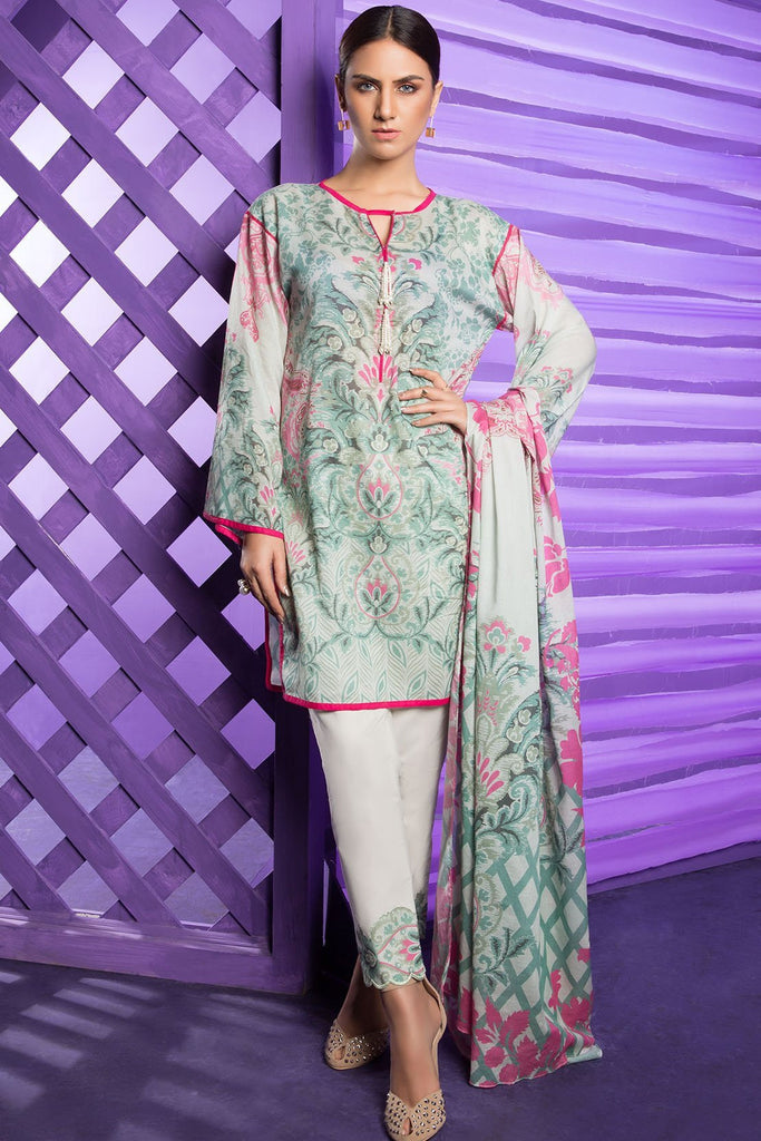 Warda Designer Collection - 3PC Lawn Print 3818224