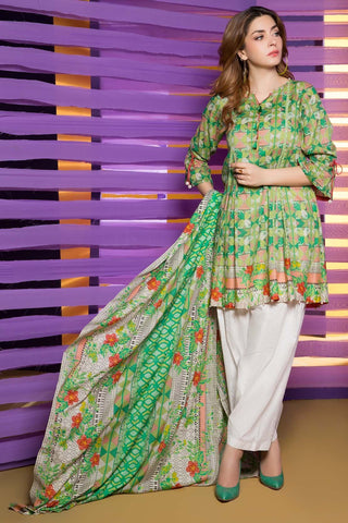 Warda Designer Collection - 3PC Lawn Print  3818253