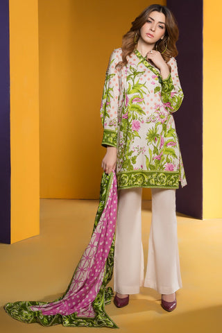 Warda Designer Collection - 3PC Lawn Print 3818272