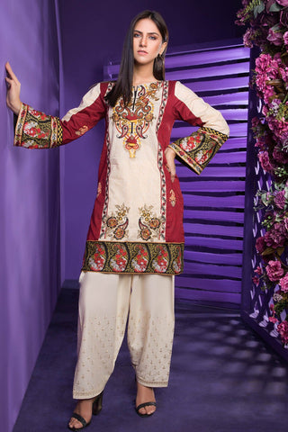 Warda Designer Collection - Single Shirt Lawn Embroidery 1308216