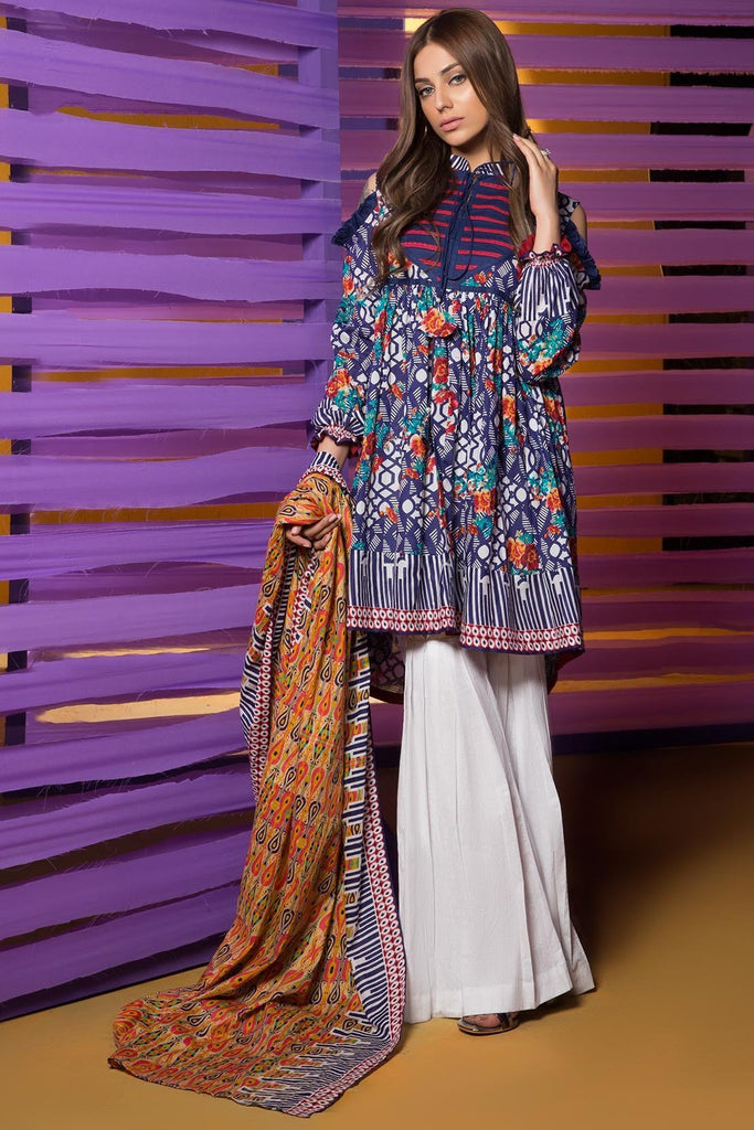 Warda Designer Collection - 3PC Lawn Print 3818270