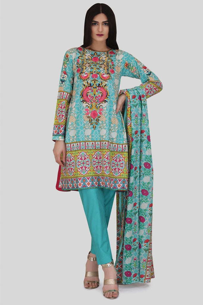 Warda Designer Collection - 3PC Lawn Embroidery LS18064