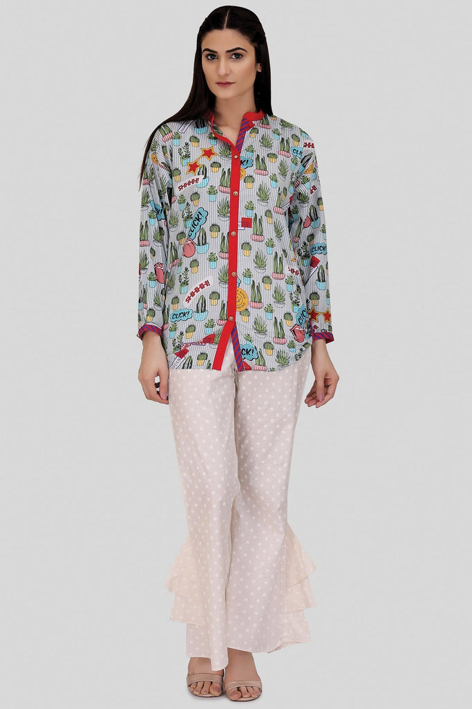 TOP Single Shirt Lawn Print LS18115 - Pret - Warda Designer Collection