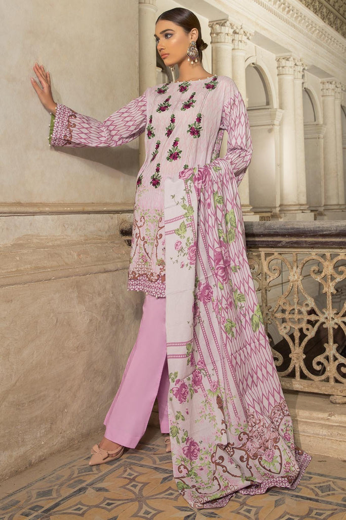 Warda Designer Collection - 3PC Lawn Kashmiri Embroidery 3818358