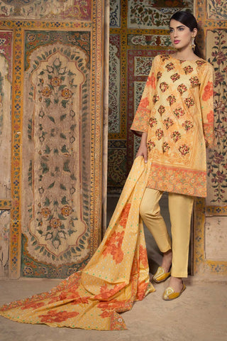 Warda Designer Collection - 3PC Lawn Kashmiri Embroidery 3818357