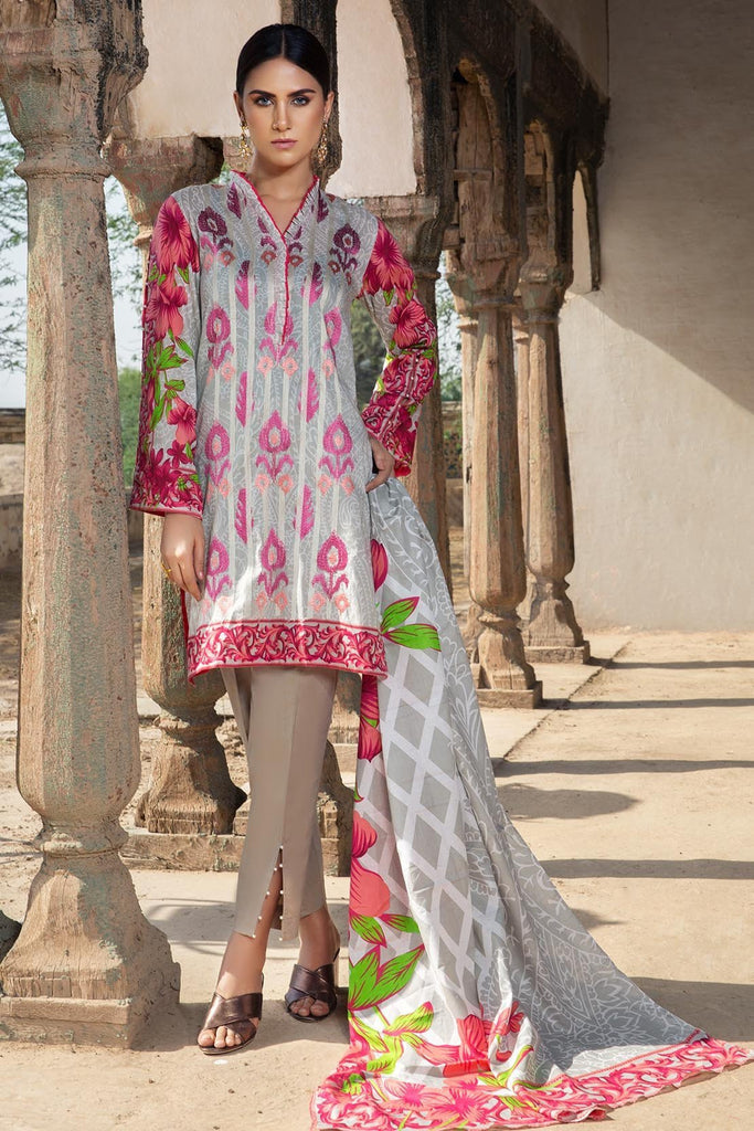 Warda Designer Collection - 3PC Lawn Kashmiri Embroidery 3818355