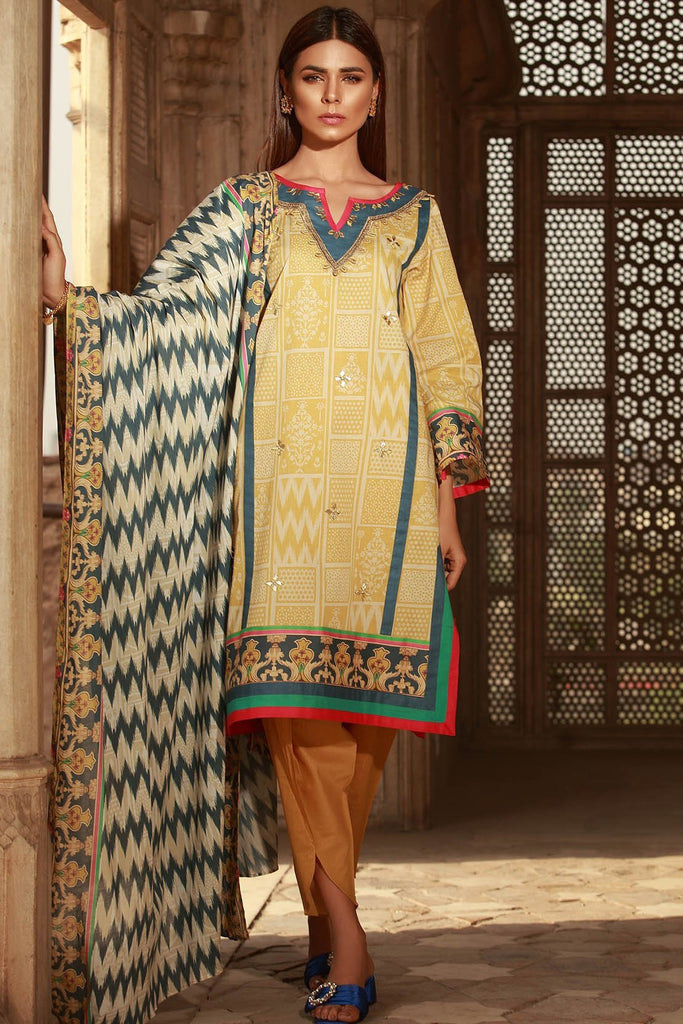 Warda Designer Collection - 2PC Lawn Print 2558418