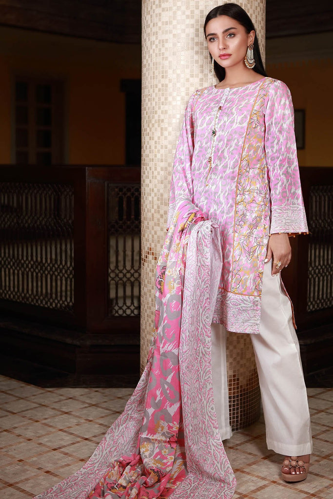 Warda Designer Collection - 3PC Lawn Print 3818463