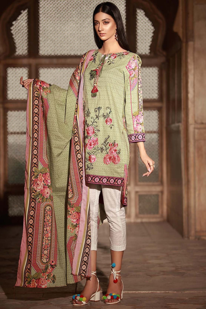Warda Designer Collection - 3PC Lawn Embroidery 3818346