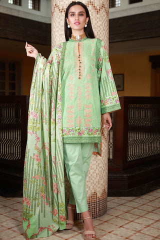 Warda Designer Collection - 3PC Lawn Embroidery 3818488