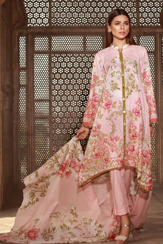 Warda Designer Collection - 3PC Lawn Print 3818449
