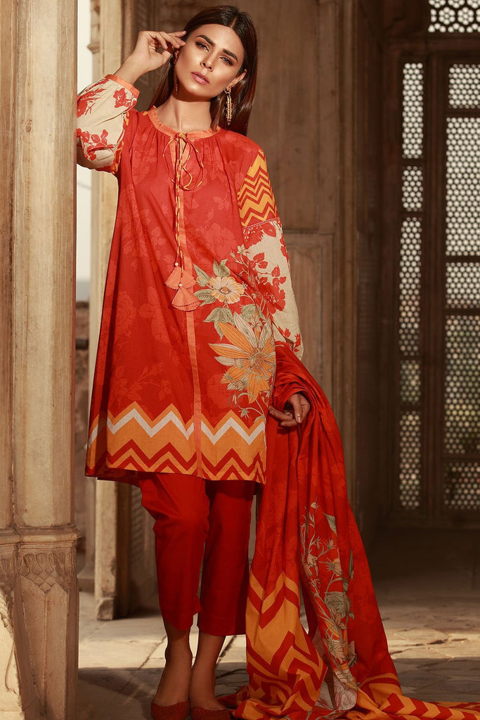 Warda Designer Collection - 3PC Lawn Print 3818455