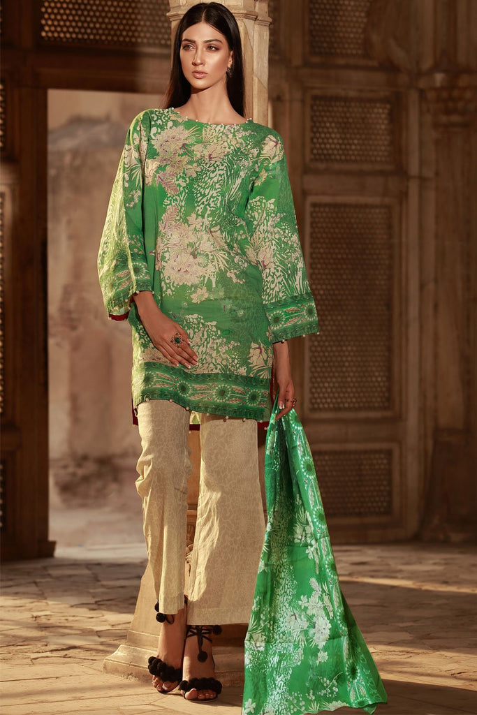 Warda Designer Collection - 3PC Lawn Print 3818427