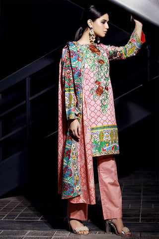 Warda Designer Collection - 3PC Lawn Embroidery LS18063