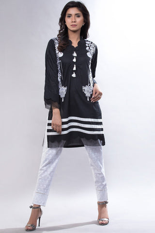 Warda Designer Collection - Single Shirt Solid Embroidery LS18801