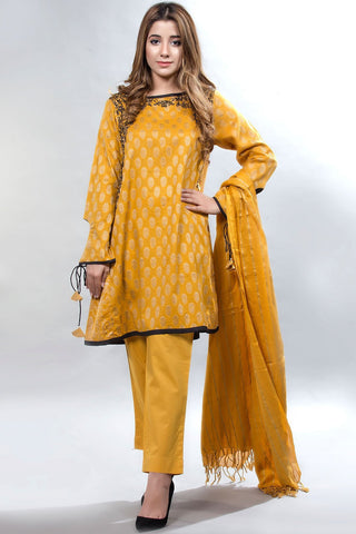 Warda Designer Collection - 3PC Jacquard  Broshia with Bumble LS18057