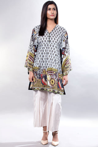 Single Shirt Lawn Print LS18098 - Pret - Warda Designer Collection