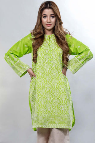 Warda Designer Collection - Single Shirt Solid Chikan Kari LS18160