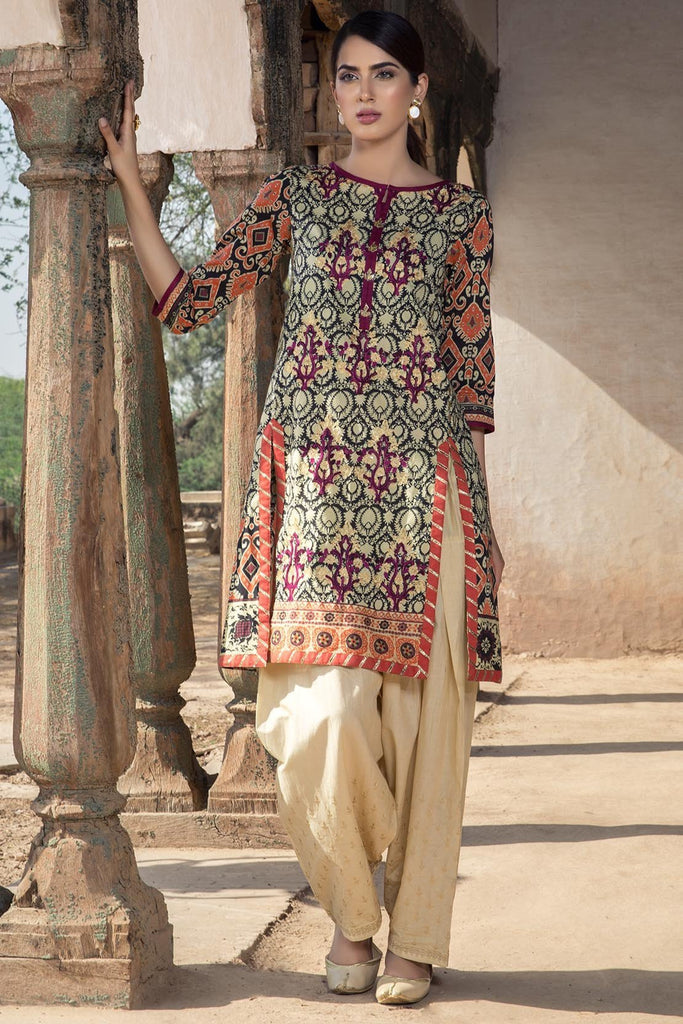 Warda Designer Collection - Single Shirt Lawn Kashmiri Embroidery 1308403