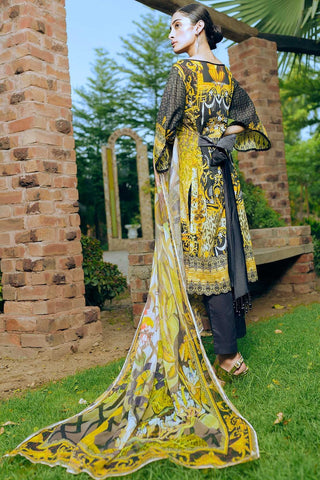 Warda Designer Collection - 3PC Digital Chikan Kari 3818352