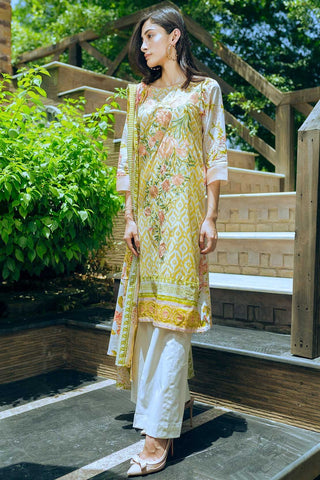 Warda Designer Collection - 3PC Lawn Embroidery 3818516