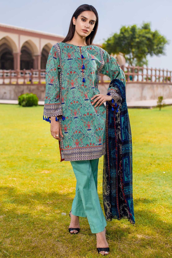 Warda Designer Collection - 3PC Chiffon Lawn Print 3818327