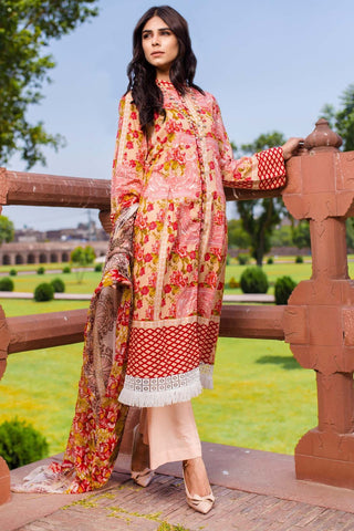 Warda Designer Collection - 3PC Chiffon Lawn Print 3818323