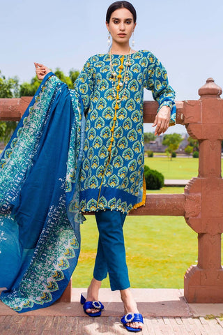 Warda Designer Collection - 2PC Lawn Print 2558524