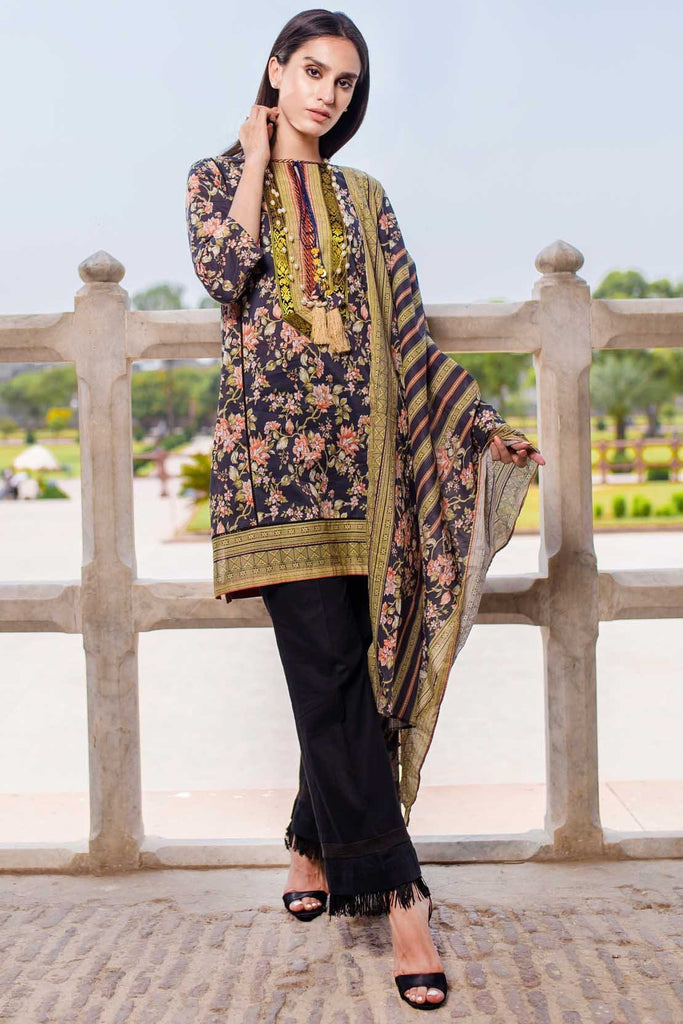 Warda Designer Collection - 2PC Lawn Print 2558596