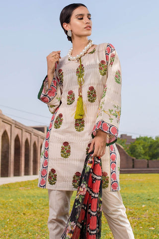 Warda Designer Collection - 2PC Lawn Embroidery with Chiffon Dupatta 2558317