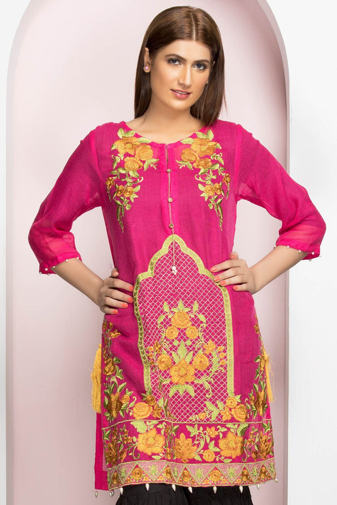 Stitched Single Shirt Embroidery LPSS766 - Pret - Warda Designer Collection
