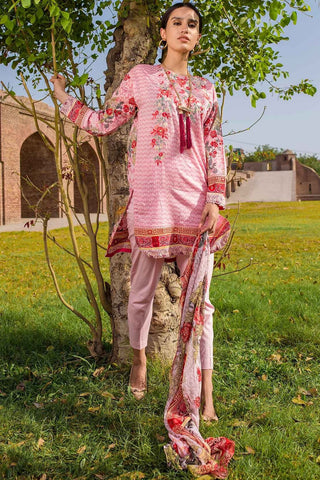 Warda Designer Collection - 3PC Lawn Embroidery with Chiffon Dupatta 3818329