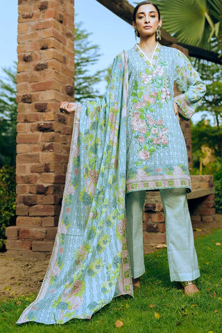 Warda Designer Collection - 2PC Lawn Embroidery with Chiffon Dupatta 2558591