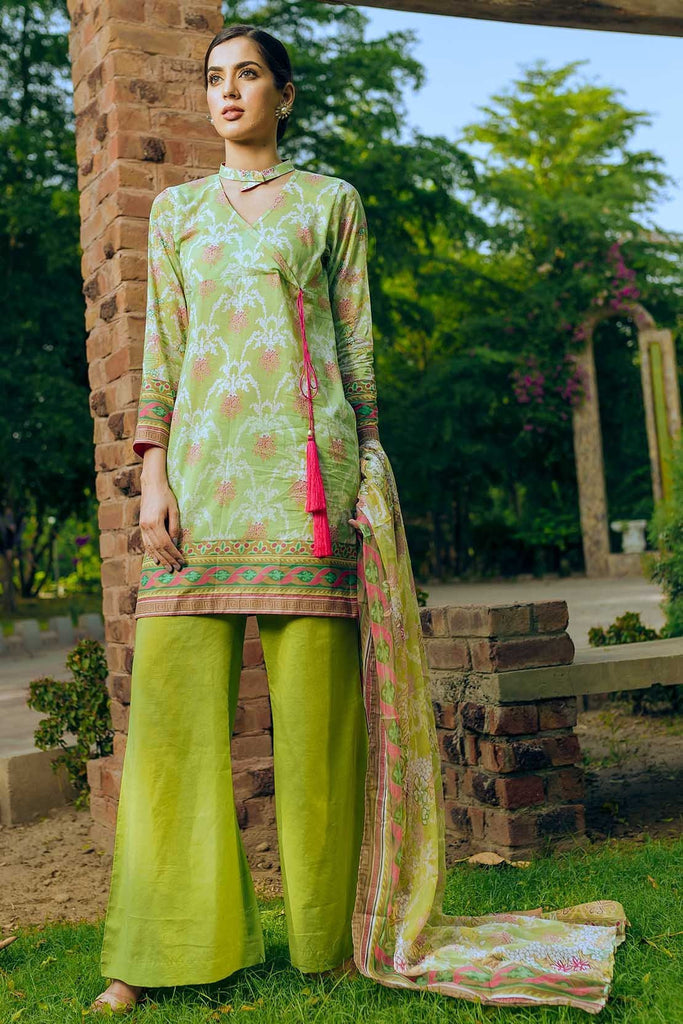 Warda Designer Collection - 3PC Lawn Print with Bamber Dupatta 3818586