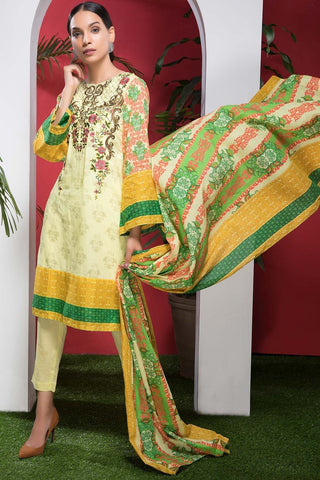 Warda Designer Collection - 2PC Lawn Embroidery with Broshia Chiffon Dupatta 2558589