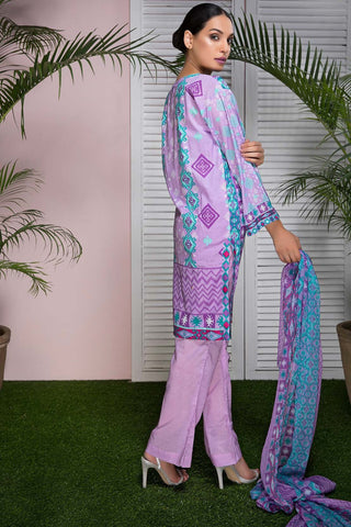 Warda Designer Collection - 3PC Lawn Embroidery with Bamber Dupatta 3818573