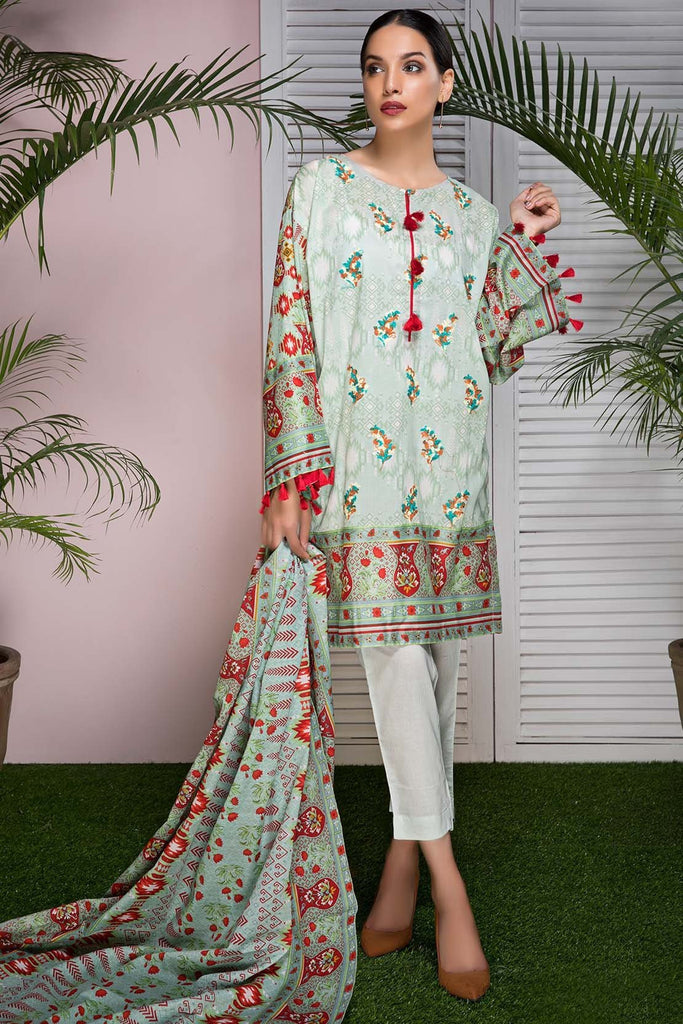Warda Designer Collection - 3PC Lawn Embroidery 3818508