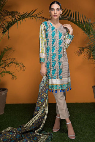 Warda Designer Collection - 3PC Lawn Embroidery 3818510