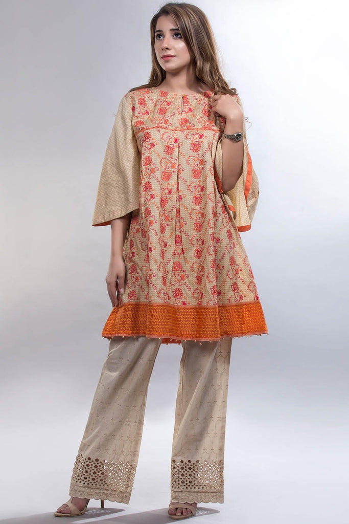 Solid Embroidery Trouser Chikan Kari LS18300 - Bottoms - Warda Designer Collection