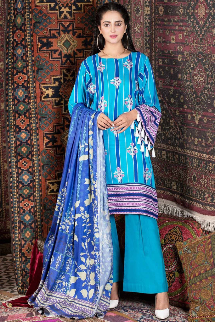 Warda Designer Collection - 2PC Linen Embroidery 2558816