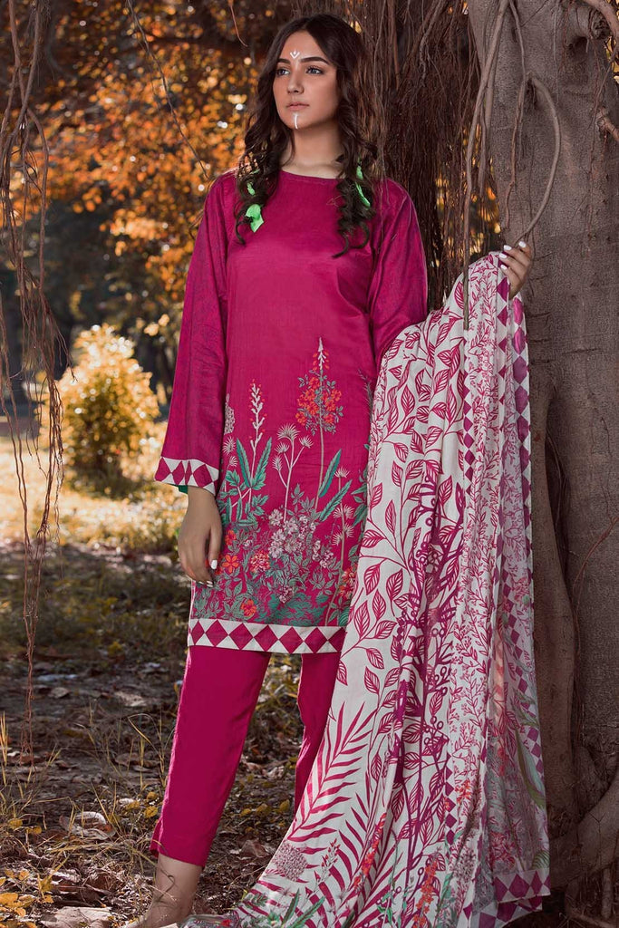 Warda Designer Collection - 3PC Linen Print 3818813