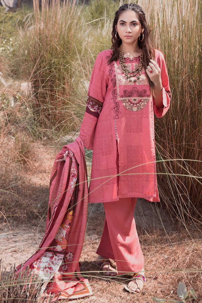 Warda Designer Collection - 3PC Silk Karandi Embroidery 3818916