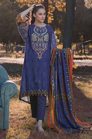 Warda Designer Collection - 3PC Khaddar Embroidery 3818831