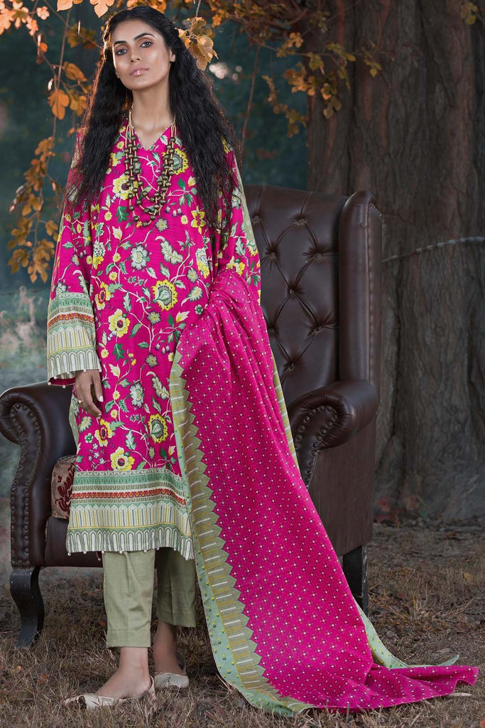 Warda Designer Collection - 3PC Khaddar Print 388851A