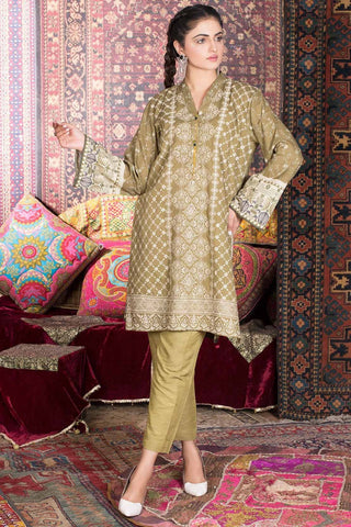 Warda Designer Collection - Single Shirt Khaddar Chikan Kari with Print 1308897