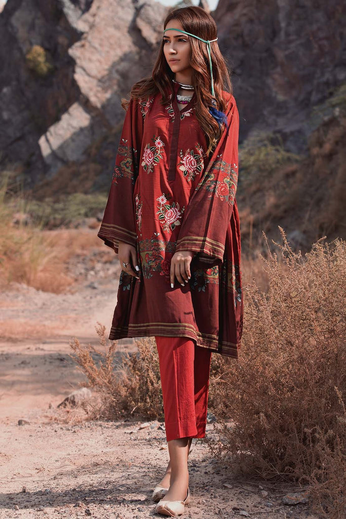 Warda Designer Collection - Single Shirt Khaddar Embroidery 1308880