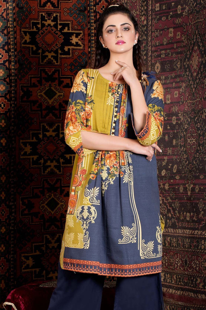 Warda Designer Collection - Single Shirt Khaddar Print 1308879